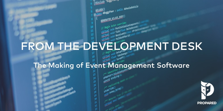 {New Series} From the Dev. Desk: The Making of Event Management Software