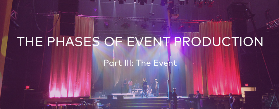 The Phases of Event Production – Part III: The Event