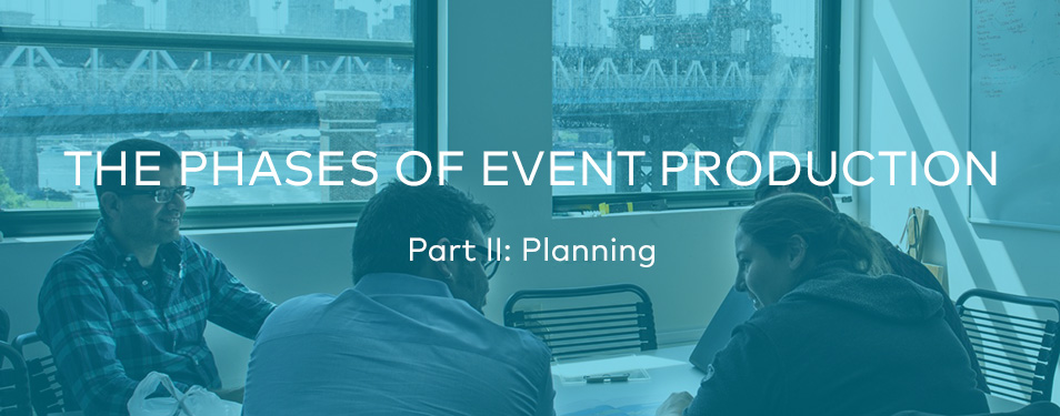 The Phases of Event Production – Part II: Planning