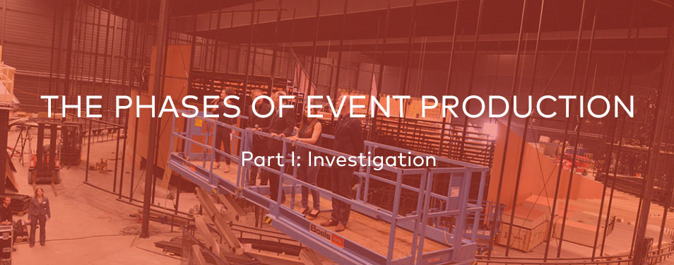 The Phases of Event Production – Part I: Investigation