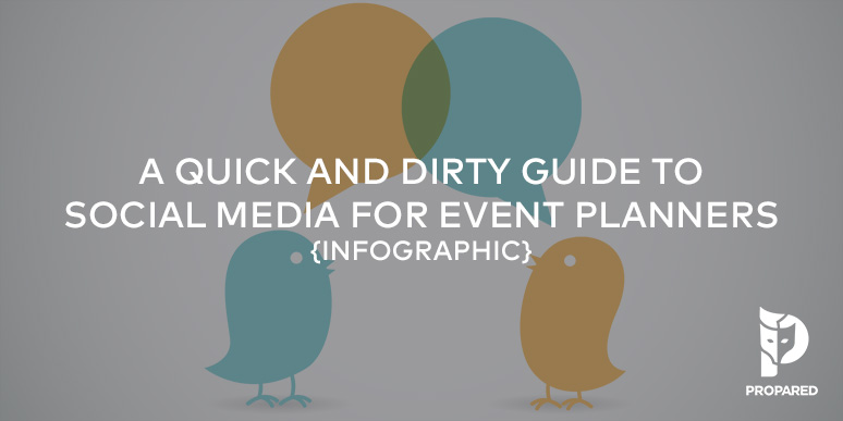 A Quick & Dirty Guide to Social Media for Event Planners {Infographic}